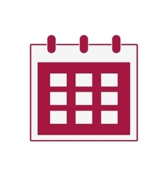 Calendar red planner icon graphic vector