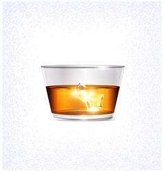 Light glass and ice vector