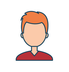 character male social network flat isolated vector image