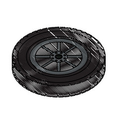 Tire car icon image vector