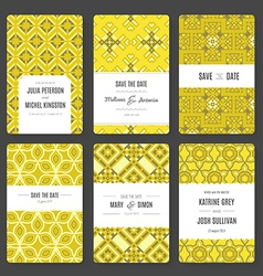 Save the date card collection vector