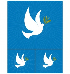 Dove of peace vector