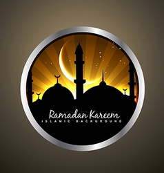 Islamic badge vector