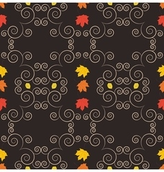 Autumn seamless pattern art vector