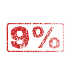 9 percent rubber stamp vector