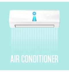 White color air conditioner machine vector