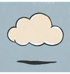 cloud symbol retro vector image