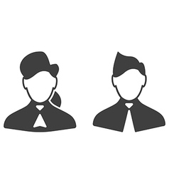 Consultants woman and man icons vector