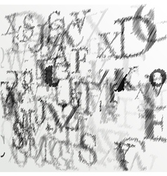 Abstract alphabet background sketch vector image vector image