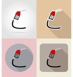 car equipment flat icons 09 vector image vector image