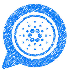 Cardano message balloon icon grunge watermark vector