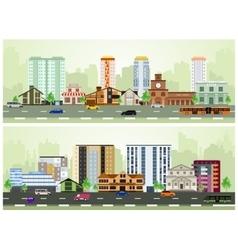 city street vector image vector image