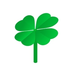 Clover leaves isometric 3d icon vector image