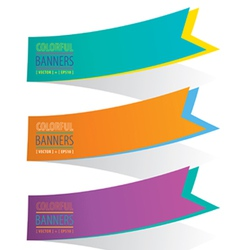 Colorful Ribbon Banner EPS10 vector image