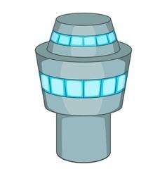 Control tower icon cartoon style vector