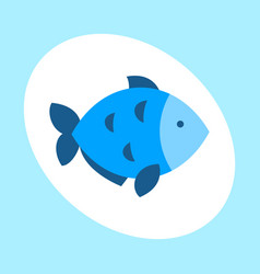 craft blue fish animal nature food and ecology vector image