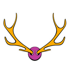 Deer head icon icon cartoon vector
