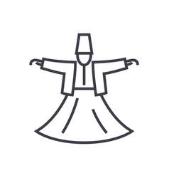 dervish danceislam line icon sign vector image