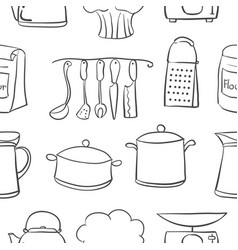 Doodle of kitchen hand draw style vector