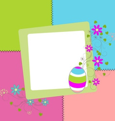 easter colored card vector image vector image
