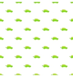 Green electric car pattern cartoon style vector