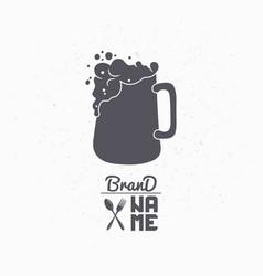 Hand drawn silhouette of beer mug vector