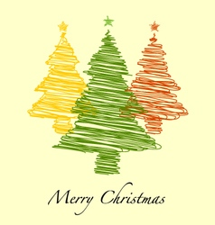 Happy new year merry christmas with hand drawn vector