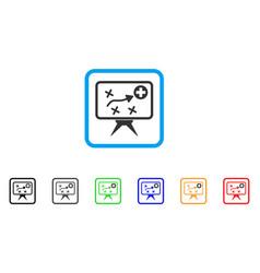 Health strategy framed icon vector