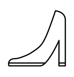 heel shoe female isolated icon vector image
