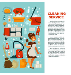 house cleaning service promotional banner with big vector image vector image