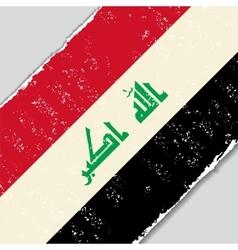 Iraqi grunge flag vector