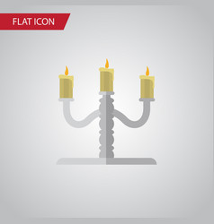 isolated candelabrum flat icon candlestick vector image vector image