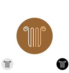 Linear style column or lira logo vector