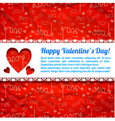 Lovely greeting poster vector
