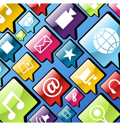 Mobile phone app icons background vector