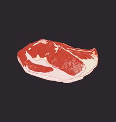 Premieum meat a4 grade sketch vector