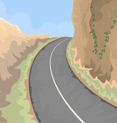 Road on hill vector