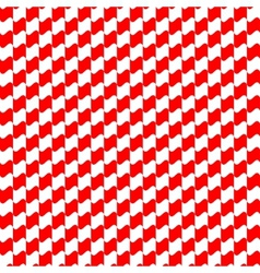 Seamless geometric pattern red color vector image