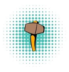 Sledgehammer icon comics style vector