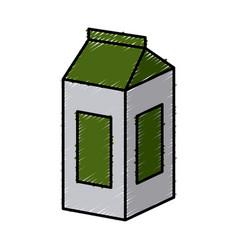 tetrapak milk box vector image