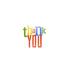 Thank you typography design vector image vector image