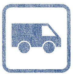 van fabric textured icon vector image vector image