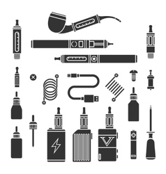 Vaping icons vector image