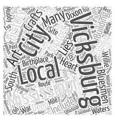 Vicksburg mississippi word cloud concept vector