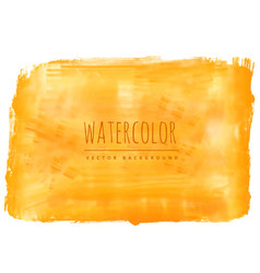 Yellow watercolor stain background vector
