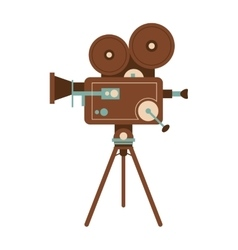 Retro film projector icon vector