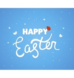 Happy easter logo template hand lettering vector