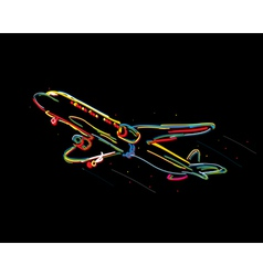 Funky airplane vector image