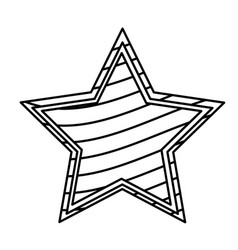 figure star with stripes independece day icon vector image