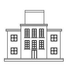 Market mall store front building board blank vector